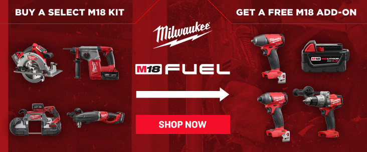 Free Add On Tool with Milwaukee FUEL Kits