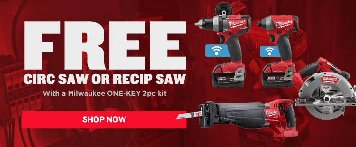 Get a Free Add On Item with Milwaukee ONE-KEY Tools