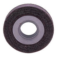 Encapsulated Wire Wheel | Weiler 35160 6 Wide Encapsulated Crimped Wire Wheel 0118 2 A H