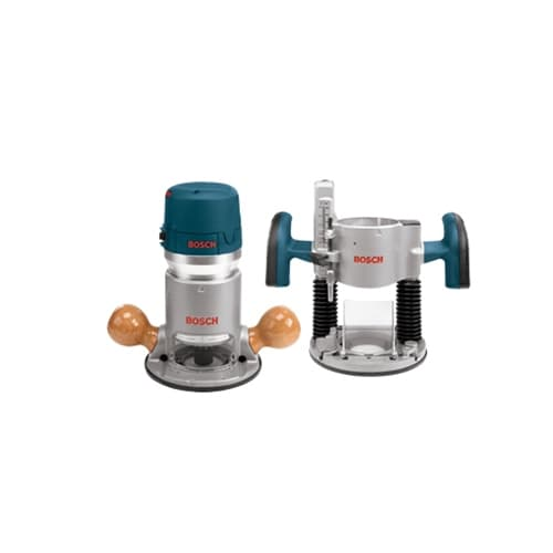 Bosch 1617evspk 2hp combination plunge router amp fixed base bosch 1617evspk 2hp combination plunge router fixed base router pack greentooth Choice Image