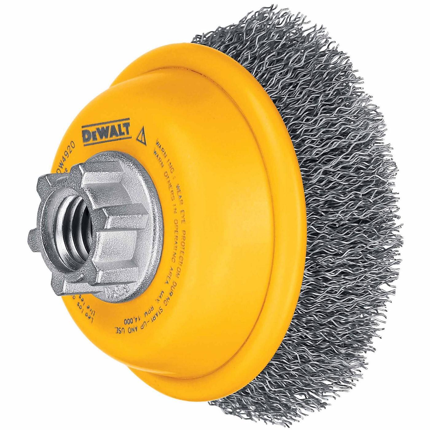 .020-Inch DEWALT Wire Wheel 4-Inch x 5//8-Inch 11 HP Stainless Stringer Bead DW49204