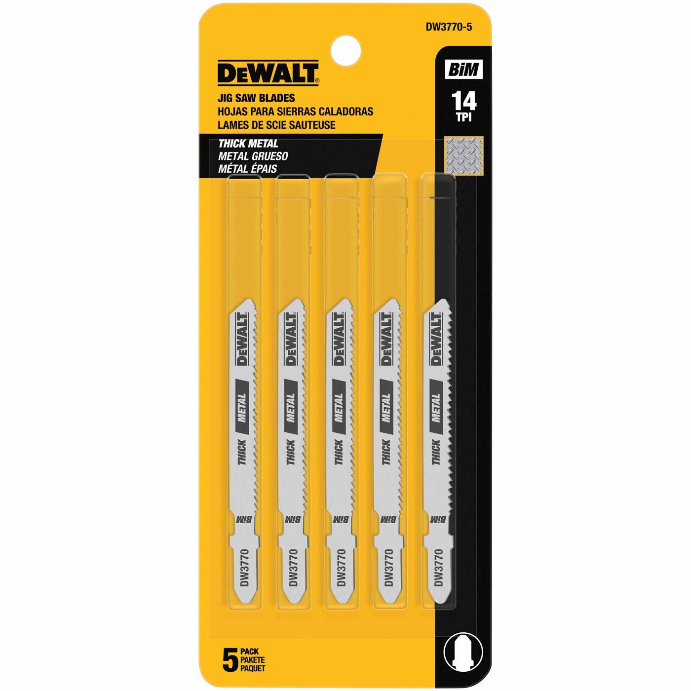 Dewalt dw3770 5 3 14 tpi t shank cobalt steel jig saw blade 5 pack greentooth Gallery