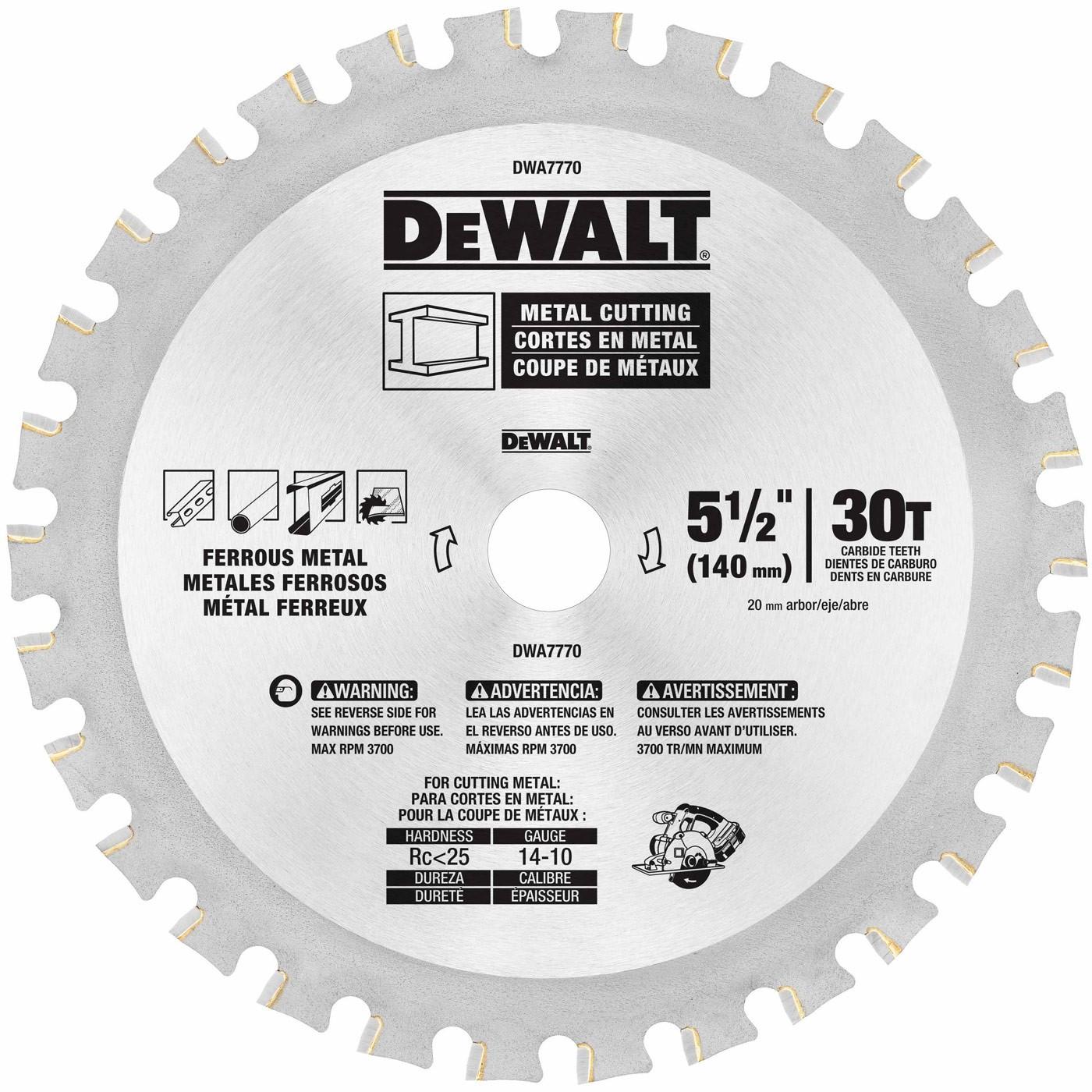 Dewalt dwa7770 5 12 30t metal cutting blade keyboard keysfo Gallery