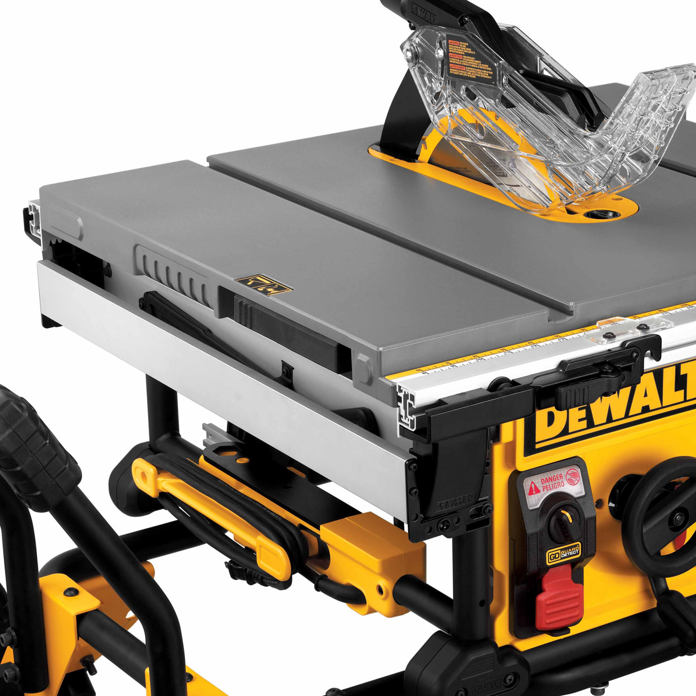 Dewalt dwe7499gd 10 jobsite table saw with guard detect for 10 jobsite table saw