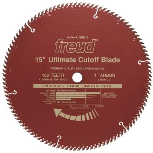 Tool accessories circular saw blades freud lu85r015 15x108 atb red teflon blade keyboard keysfo Images