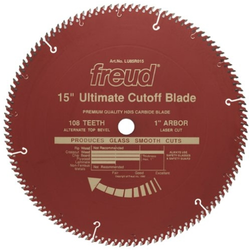 Tool accessories circular saw blades freud lu85r015 15x108 atb red teflon blade greentooth Image collections