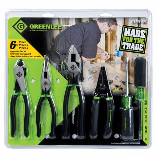 Greenlee 0159 36 6 Piece Apprentice Tool Set