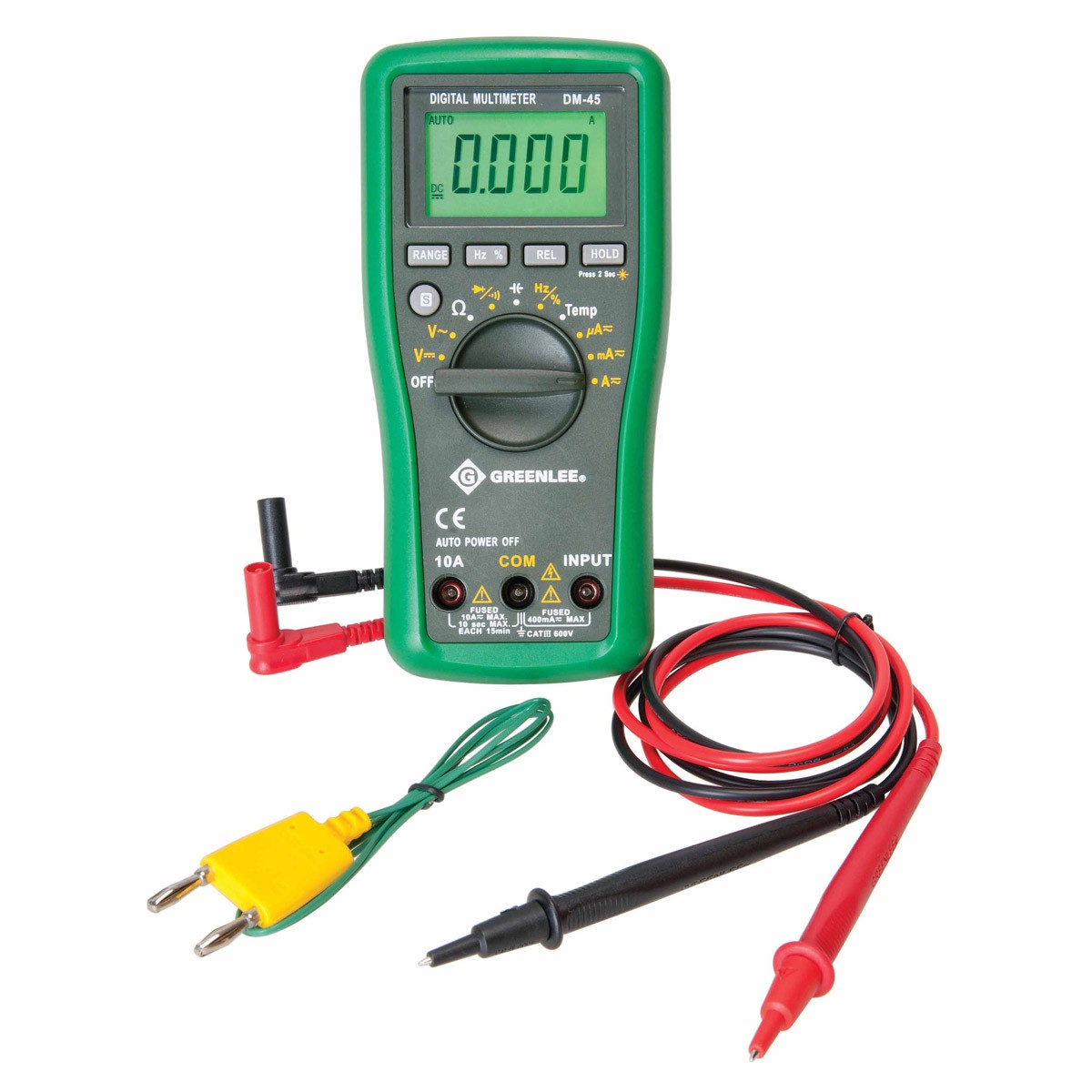 Electrical Tester Greenlee Dm 40 : Greenlee dm auto ranging multimeter