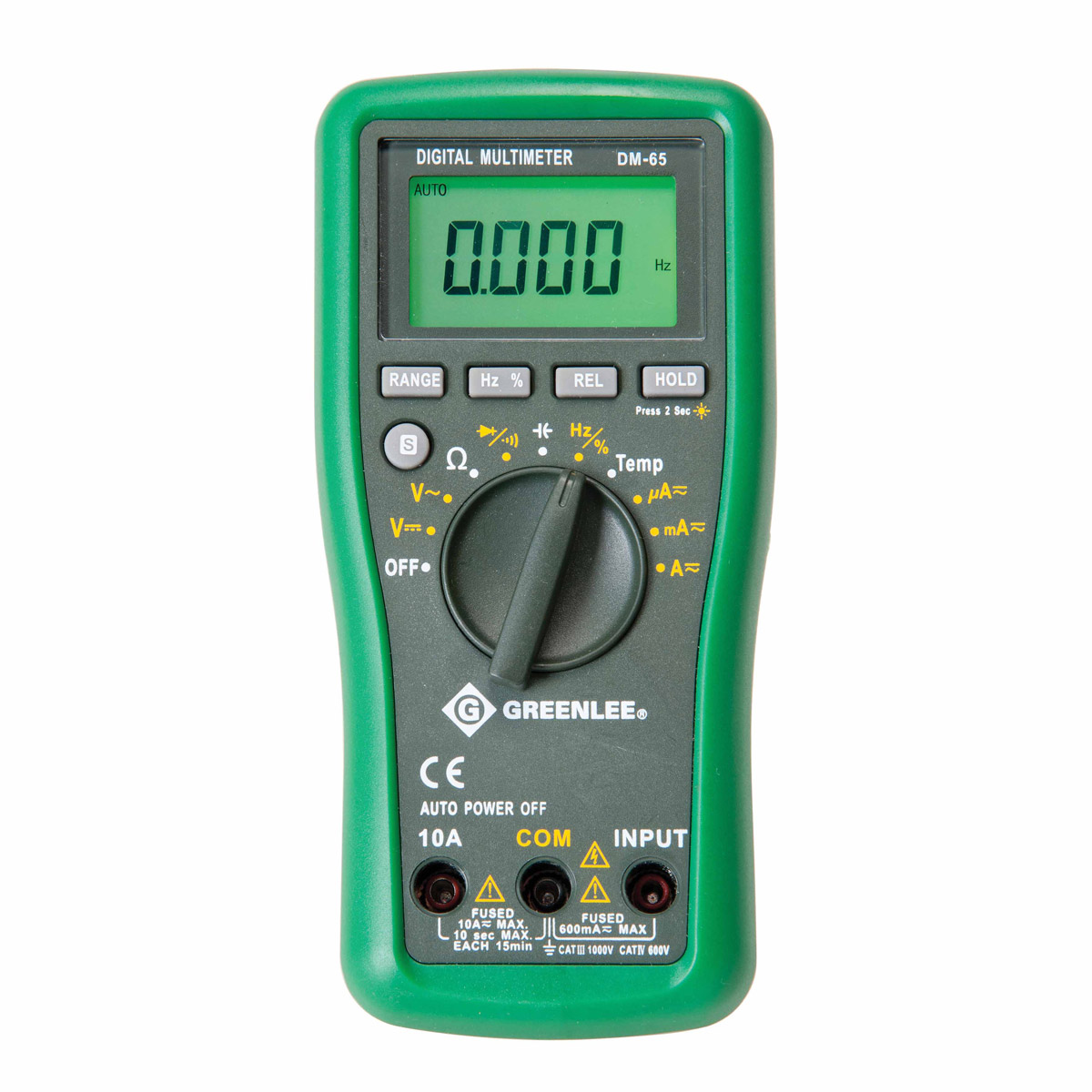 Electrical Tester Greenlee Dm 40 : Greenlee dm auto ranging multimeter