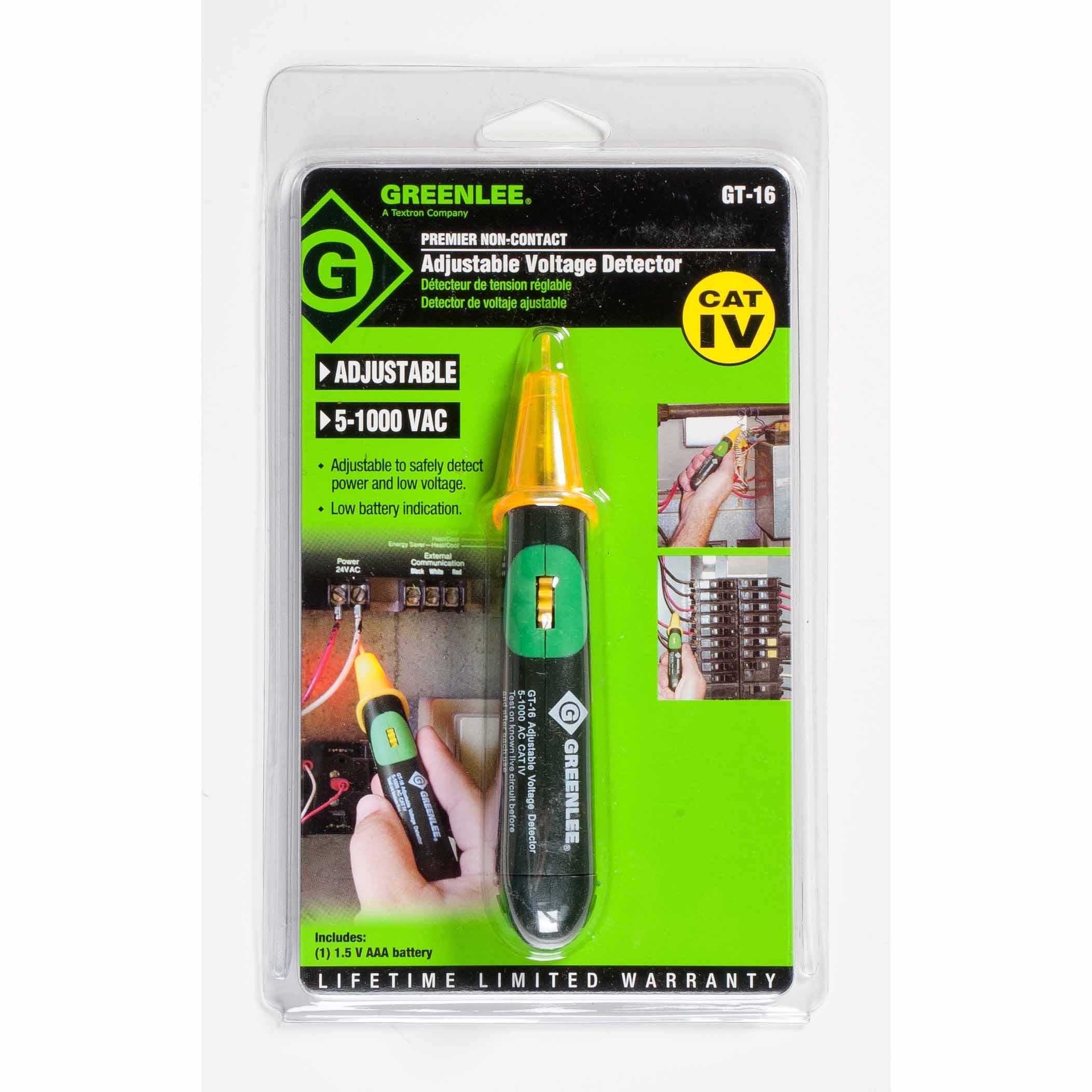 Greenlee Voltage Tester : Greenlee gt adjustable non contact voltage detector