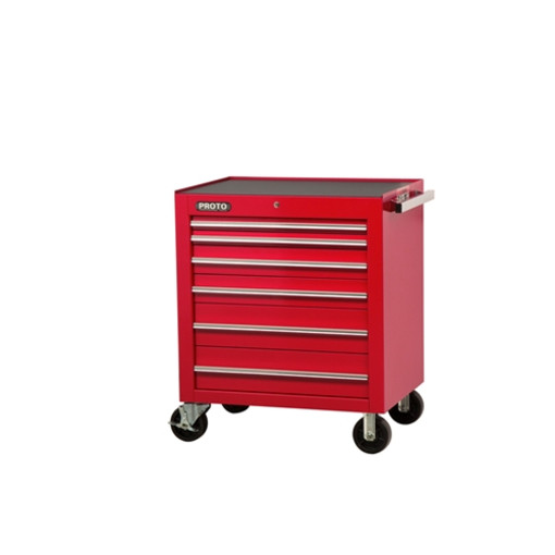 Proto J453441 6rd 34w X25d X 41h Red 6 Drawer Roller Cabinet