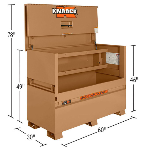 Gang Box For Sale >> Knaack 89 60 X 30 X 49 Jobsite Storagemaster Gang Box Chest