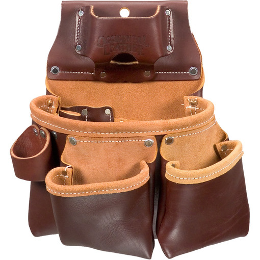Occidental Leather 5018dblh Left Handed 3 Pouch Pro Tool Bag With Tape Measure