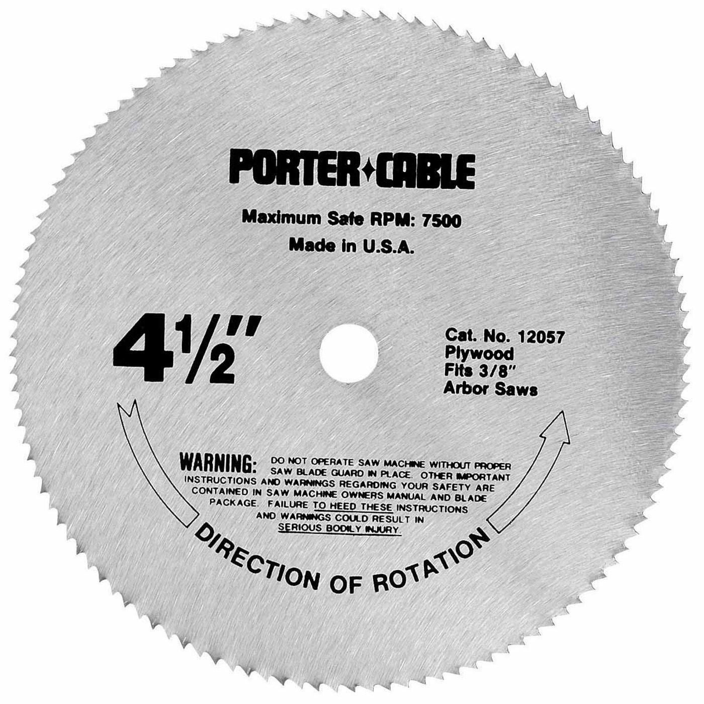 Porter Cable 12057 Circular Saw Blade, 4-1/2\