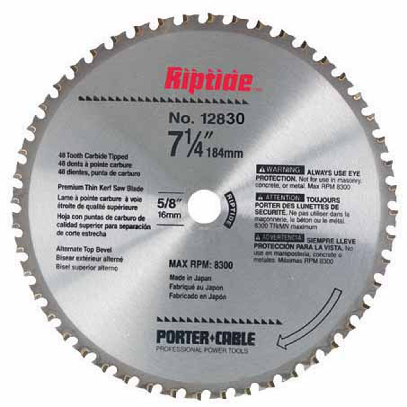 Tool accessories circular saw blades porter cable 12830 7 14 x 48t metal cutting circular saw blade right greentooth Image collections