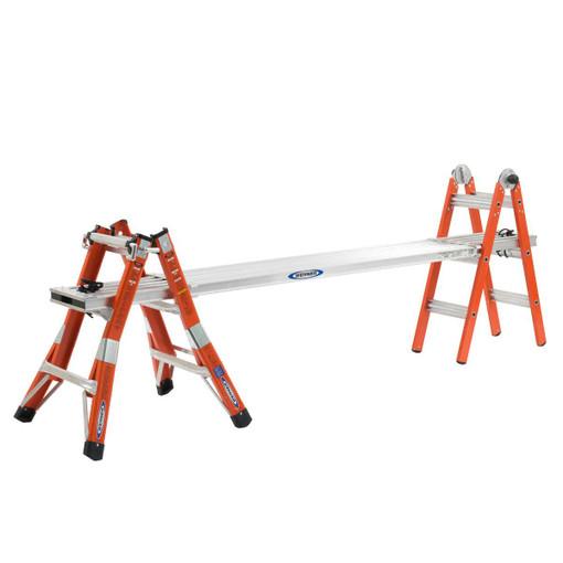 Werner FMT-13 F 13' Reach Type IA Fiberglass Multi-Position Ladder