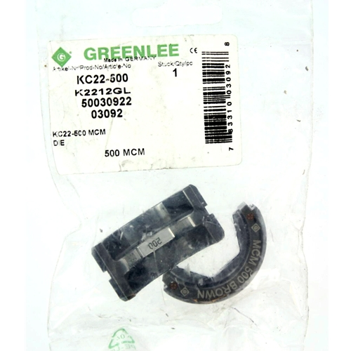 Greenlee kc22 500 6 ton crimping die for 500 kcmil mcm cable keyboard keysfo Image collections
